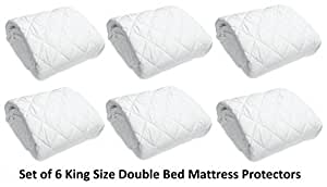 HOME ORIGINALS Cotton Waterproof Double Bed Mattress Protector(White,72x75 Inches)
