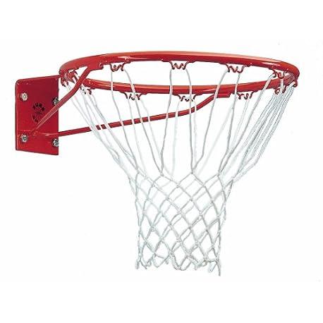 Sure Shot261 Aro de baloncesto con red color rojo y blanco