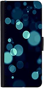 Snoogg Bubbles Bluedesigner Protective Flip Case Cover For Lg G3