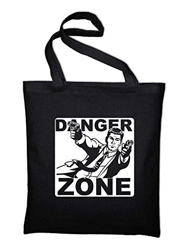 Danger Zone Sterling Malory Archer Fan Jutebeutel Schwarz