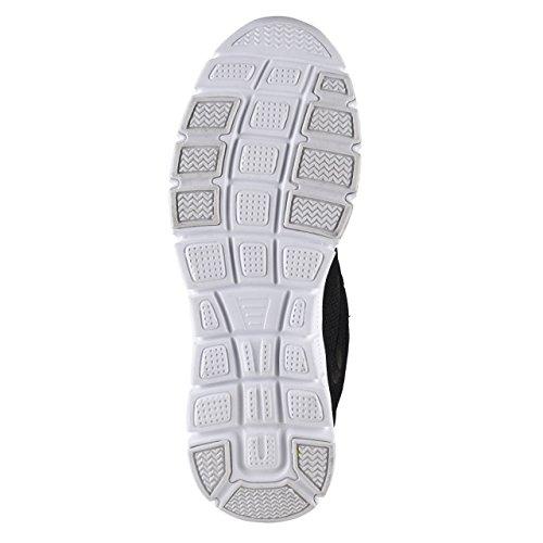 Hsm, Zapatillas Para Hombre Blanco / Negro