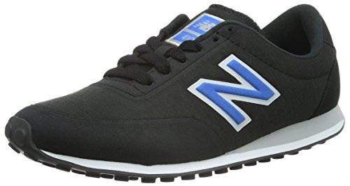 New Balance U410V1, Baskets Basses Homme, Noir (Black/Blue), 39.5 EU