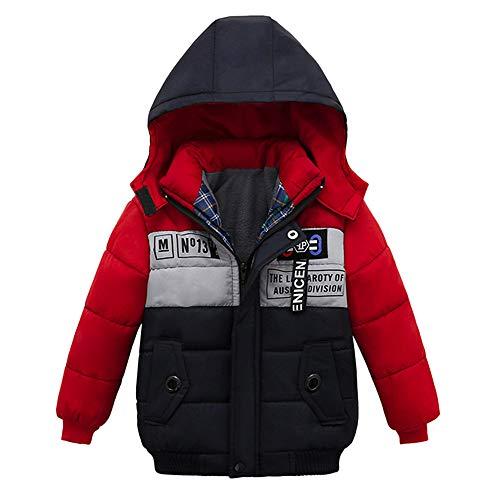 LSAltd-Kinder Kinder Jungen Winter Kapuzenmantel Langarm Gefütterte Jacke -