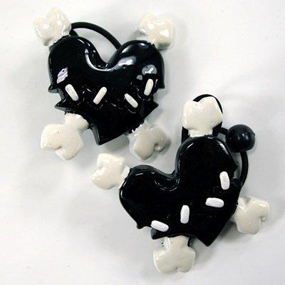 MIK funshopping Kreepsville 666 Haargummi-Set Stich Heart Black
