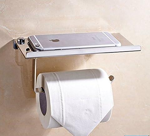 Support de papier toilette Porte-rouleaux de toilette en acier inoxydable