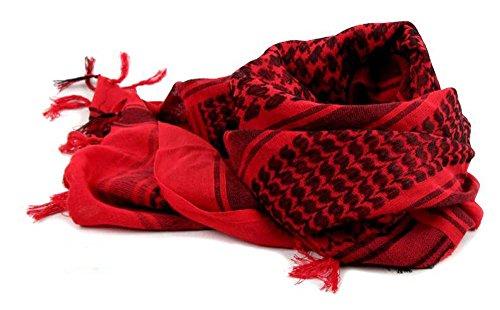 Style militaire ARAB Keffieh tactique Desert Écharpe, Cou Tête souple confortable Écharpe Red