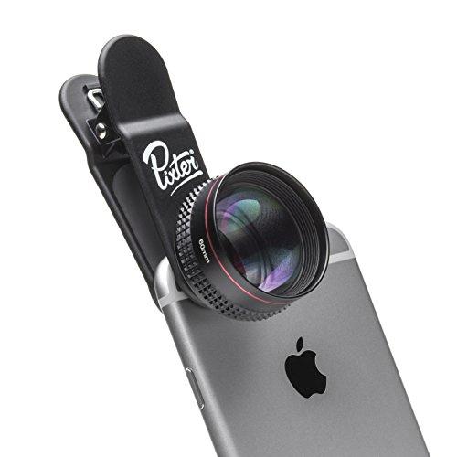 Pixter Telephoto Pro - Telefotoobjektiv Zoom X2, Kompatibel mit allen Smartphones: iPhone / Samsung / Huawei / Honor / OnePlus
