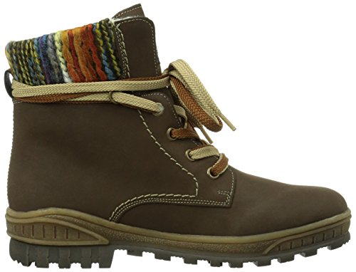 Rieker Y3601-25 Damen Halbschaft Stiefel Braun (schoko/orange-multi / 25)