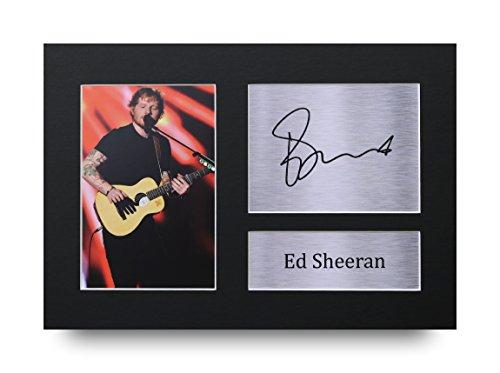 Ed Sheeran Los Regalos Firmaron A4 la Dedicatoria Impresa Música La Foto de Impresión Imagina la Demostración