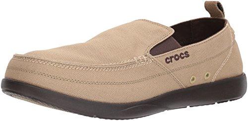 Crocs Walu 11270-23G-660, Herren Bootsschuh, khaki/espresso, 43 EU / 9 UK