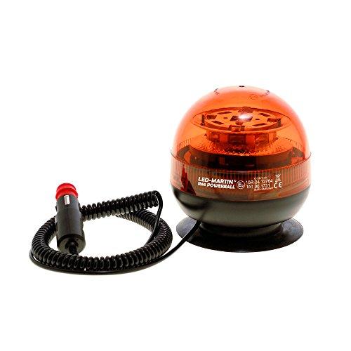 Preisvergleich Produktbild LED-MARTIN R65 PowerBall Rundumkennleuchte - gelb - mit Magnetfuß - 4m Kabel