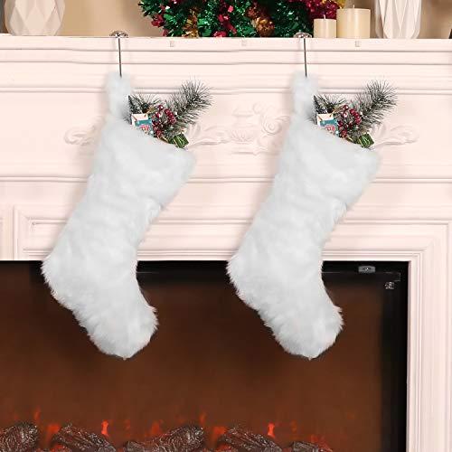 2 Piezas de Calcetín de Navidad de 20 Pulgadas Medias de Piel...