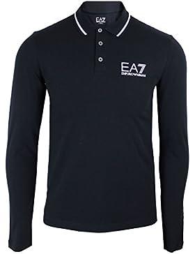 Emporio Armani EA7 t-shirt hombre manga larga cuello de polo nuevo blu