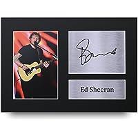 Ed Sheeran Signed A4autographe Musique Impression photo écran–Idée cadeau