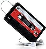 IPHONE 4 4G RETRO CASSETTE SILICONE CASE - BLACK