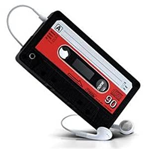 IPHONE 4 4G RETRO CASSETTE SILICONE CASE - BLACK