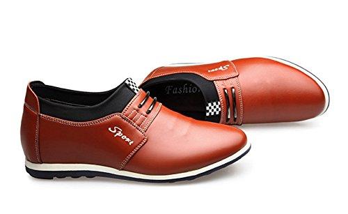 Ocio Ocasional Zapato Obra Única Xiguafr Cuero Hombre De Cm 6 Amarilla Invisible Aumentó Cq5xwBPv