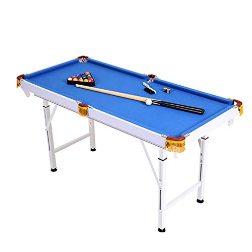 LiPengTaoShop Tavoli da Biliardo Tavolo da Biliardo Mini Biliardo per Bambini Grande Tavolo da Biliardo Giocattolo da Gioco Pieghevole per Bambini (Color : Blue, Size : 120 * 63 * 59/85CM)