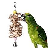 housesweet Kauspielzeug für Papageien, Sittiche, Strohball, Glocke, Käfig, hängendes Spielzeug