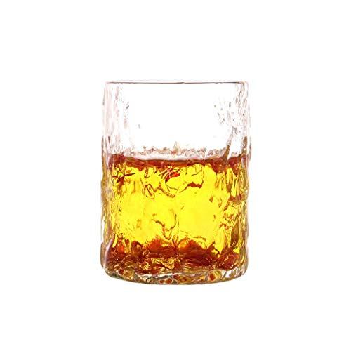 Tasse de verre tricotée à la main Tasse de petit-déjeuner résistant à la chaleur Boisson Jus de lait Tasse de ménage Coupe à boire de ménage Texture Crystal Clear