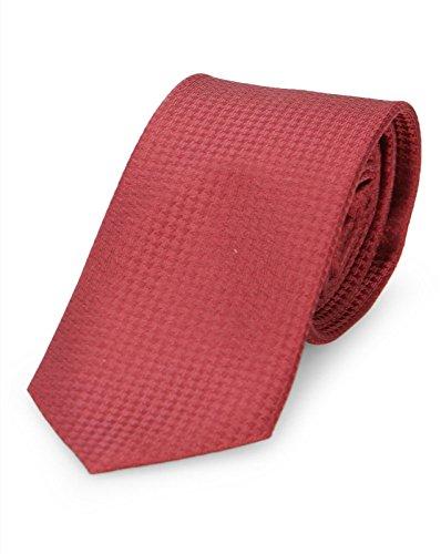 Calvin Klein - Krawatten - Herren - Bordeauxrote Krawatte Textured für herren - TU