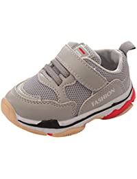 Hunputa Baby Boy's and Cotton Rubber Sloe Outdoor Sneaker First Walkers Shoes Black