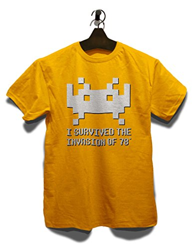 Space Invader 78 T-Shirt Gelb