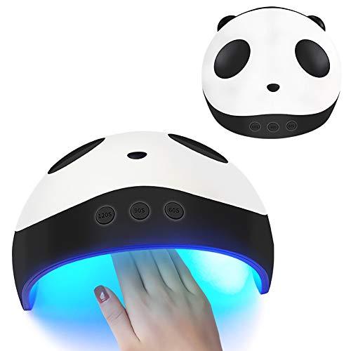 1 Satz Pro Nagel Aushärtelampe Tragbare Nageltrockner Uv Gel Nagellack Licht Panda Nagel Lampe Mit 3 Timer Einstellungen Automatische Nageltrockner Für Nail art