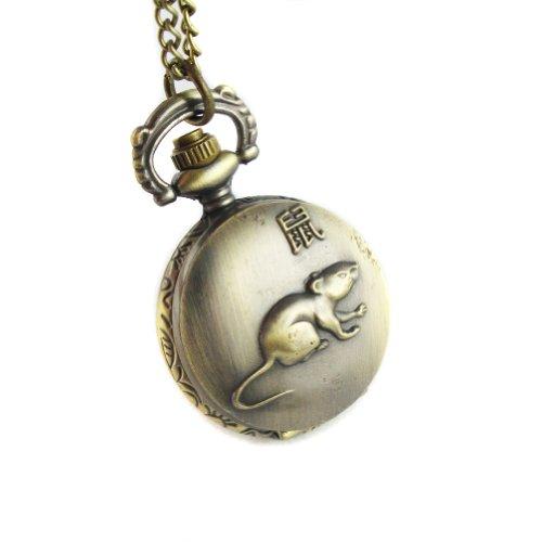 mapofbeauty-bronze-chinese-zodiac-mouse-pattern-case-quartz-pocket-watch