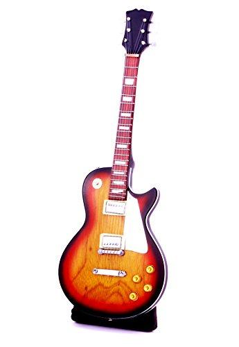 Miniatur E-Gitarre kleine Standart Les Paul 24 cm Pro Handgitarre Msikinstrument Mini Deko Gitarre Guitar (#Hellbraun Natur)