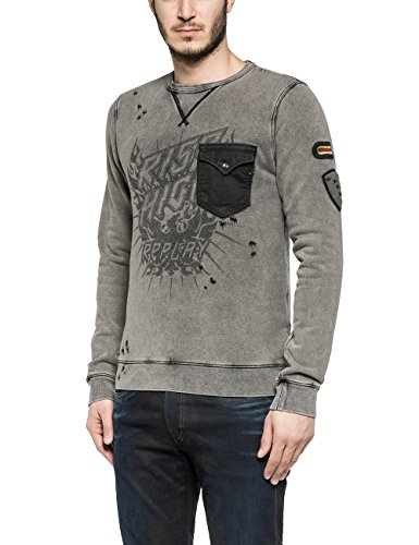 Replay M3121 .000.21842M, Felpa Uomo, Grau (Grey 98), Small