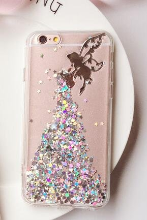 iPhone 8/iPhone 7Fall (11,9cm), blingy 's Bling Bling Glitzer Eis mit Sprinkles Gummi TPU Fall für iPhone 8/iPhone 7, Silver Fairy
