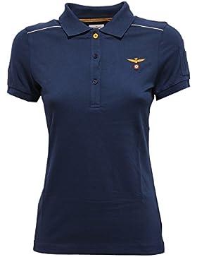 Aeronautica Militare 9017V polo donna blue t-shirt cotton woman