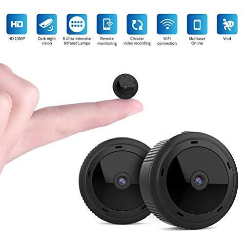LHJCN Mini Überwachungskamera Videokamera mikro Cam mit Bewegungserkennung und Infrarot Nachtsicht Compact Sicherheit Kamera für Innen und Aussen Drahtlose Fernüberwachungskamera, Black (Sicherheits-kamera-bluetooth)