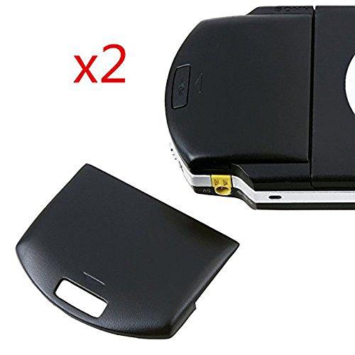 Ambertown® 2Pcs REPLACEME Akku Rückseite Tür Cover Hülle für Sony PSP 1000100110021003Fat Schwarz (Sony Psp 1000)
