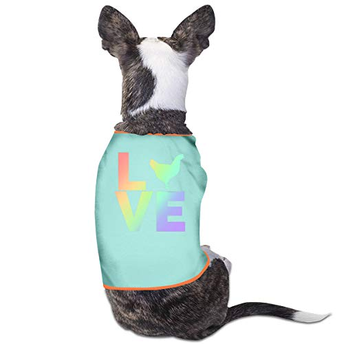 Love Puppy Baby Kostüm - Jiaojiaozhe I Love Chickens Pet Service Pet Clothing Funny Dog Cat Costume Tshirt Sky Blue