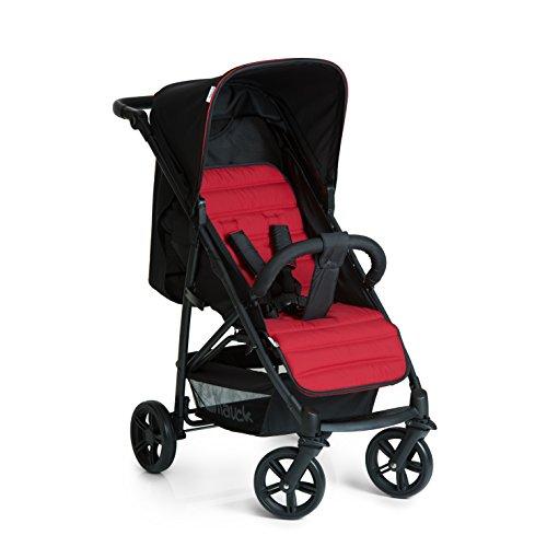 *Hauck Buggy Rapid 4, mit Liegefunktion, klein zusammenklappbar, für Kinder ab 6 Monate bis 22 kg, schwarz rot (caviar tango)*