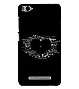 PRINTSWAG TYPOGRAPHY Designer Back Cover Case for XIAOMI REDMI MI4C