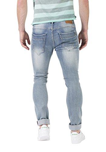 Timezone Herren Jeans Slim Scott Blau (Steel Blue Wash 3149)