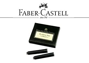 FABER CASTELL 6 INK REFILLS FOR FOUNTAIN PENS BLUE