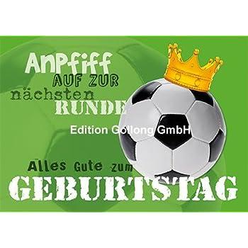 Postkarte Geburtstag Fussball Effektlack Amazon De Burobedarf
