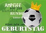 Postkarte Geburtstag Fußball * Effektlack