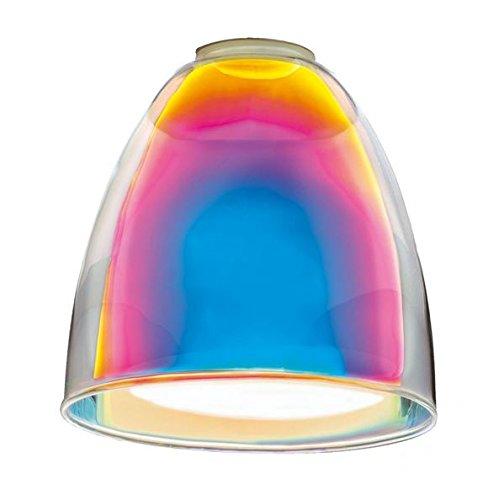 Ersatzglas E14 92866, Ersatzschirm, Lampenglas, Lampenschirm, Glas, Schirm, bunt,Fabrverlauf