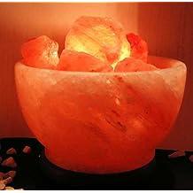 Himalayan - Lámpara de sal (con base de madera, 10 x 15 cm)