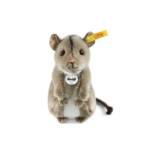 Steiff 056239 - Pilla Maus 15 aufwartende Plüsch, grau
