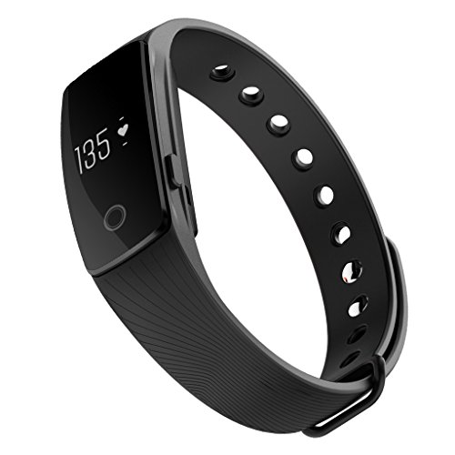iMusi Bracelet Connecté Montre de Sport Fitness Intelligente SmartWatch Etanche Bluetooth 4.0 Ecran Tactile - Noir