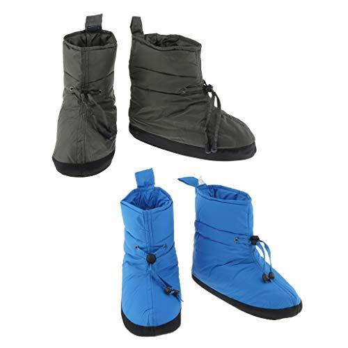 T TOOYFUL 2 Paar Duck Down Booties Socken Warme Weiche Outdoor Zelt Slipper Boot -
