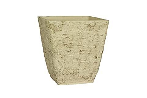 Stone Light Antique AK Series Cast Stone Planter (Pack of 4), 13 by 14
