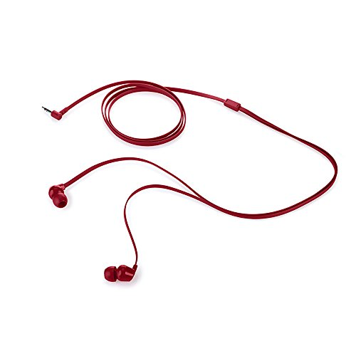 HP 1KF56AA in-Ear Headphone with Noise Isolation Earbuds (Red)
