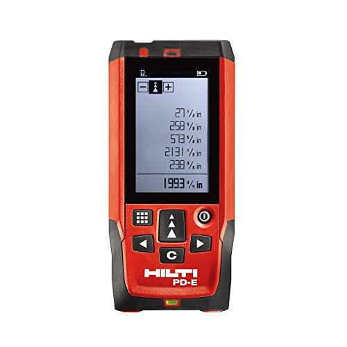 Hilti Télémètre laser Portée au mètre 200m/199,9m PD E, Handheld Télémètre Range...